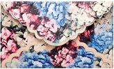 Floral print clutch