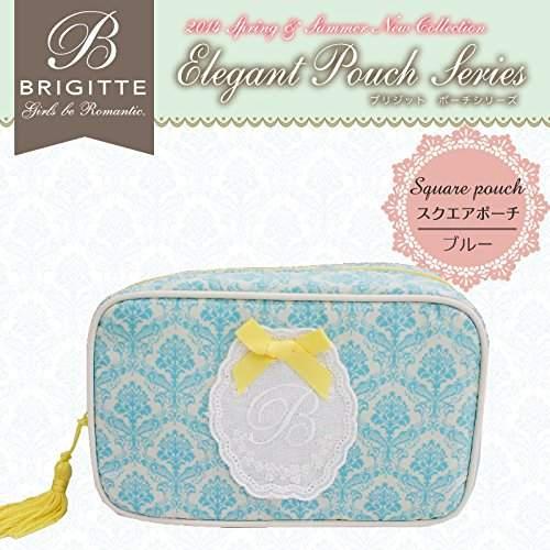 BRIGITTE (ブリジット) - ブリジット スクエアポーチブルー