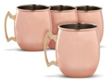 Thirstystone by Cambridge Copper Moscow Mule Mugs, Set of 4