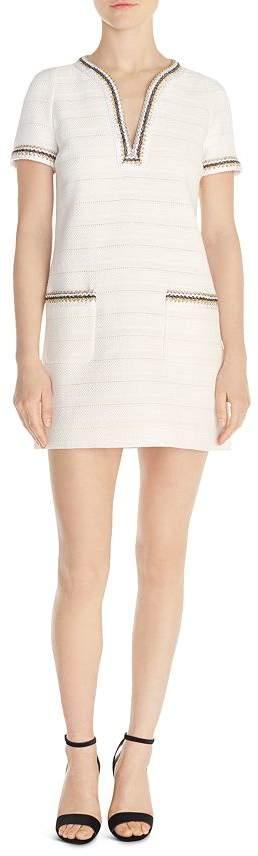 Sandro Josepha Braid-Trimmed Tweed Mini Dress
