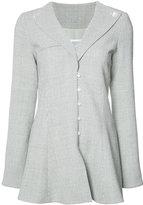 Rosie Assoulin flared plaid blazer - women - Wool/Shell - 6