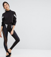 Quontum Tall Mesh Insert Colour Block Detail Legging