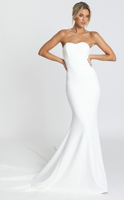 Showpo Vows For Life Gown in white - 4 (XXS) Bridal Gowns