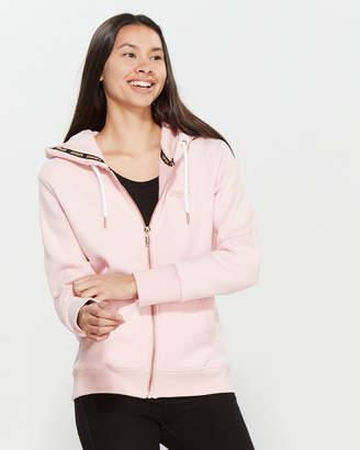 Superdry Orange Label Elite Full-Zip Fleece Hoodie