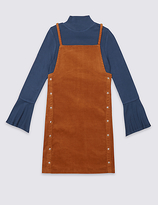 Marks and Spencer 2 Piece Top & Suede Dress Outfit (3-14 Years)