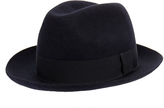 Soulland Berner Navy Classic Wool Fedora Hat