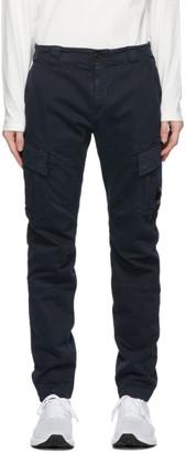 C.P. Company Navy Cotton Gabardine Cargo Pants