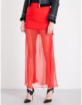 Givenchy Sheer-underlay silk-chiffon and crepe skirt