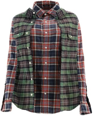 R 13 Double Checkered Shirt