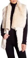 Bagatelle Drape Faux Suede & Faux Fur Vest