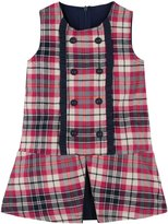 Andy & Evan Plaid Dress (Toddler/Kid) - Pink-6