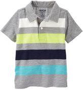 Osh Kosh Toddler Boy Short Sleeve Striped Jersey Polo Shirt