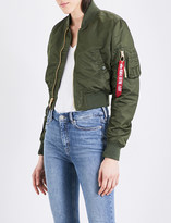 Alpha Industries MA-1 cropped shell bomber jacket