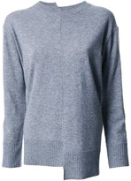ASTRAET asymmetric fine knit jumper