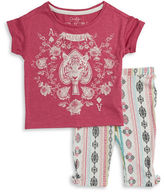 Jessica Simpson Girls 2-6x Patterned Tee and Pants Set