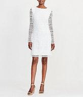 Lauren Ralph Lauren Round Neck Long Sleeve Geometric Lace Shift Dress