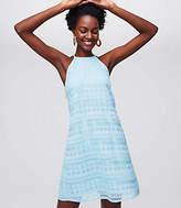 LOFT Tall Mosaic Lace Halter Swing Dress