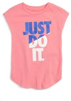 Nike Girl's Just Do It Splice Graphic Tee