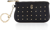 """Rebecca Minkoff """"G"""" Monogram Studded Coin Purse with Key Fob"""