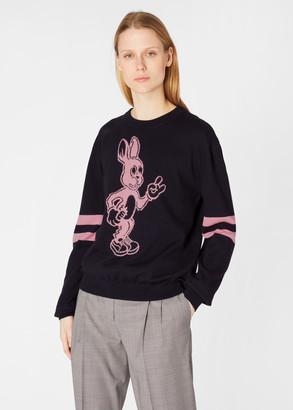 Paul Smith Women's Dark Navy 'Rabbit' Intarsia Cotton-Blend Sweater