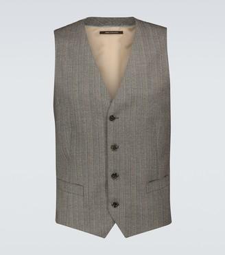 Gucci Striped wool formal waistcoat