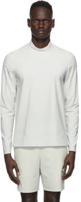 JACQUES Off-White Performance Mock Neck T-Shirt