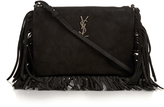 Saint Laurent Monogram classic fringed suede cross-body bag