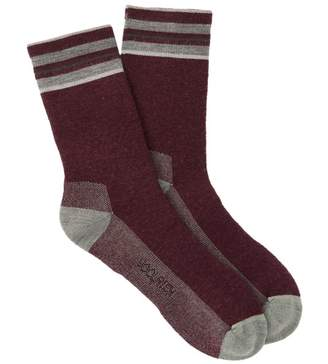 Woolrich Tipped Stripe Crew Socks