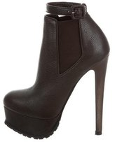 Vera Wang Leather Platform Booties