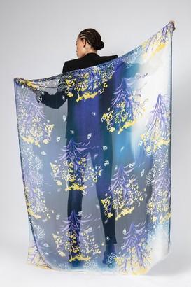 Zadig & Voltaire Fray Tie Dye Bloom Scarf