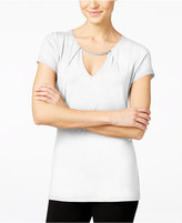 INC International Concepts Petite Cutout Hardware Top, Only at Macy's