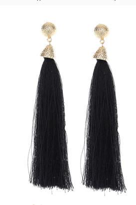 Us Jewelry House Black Tassel Earring