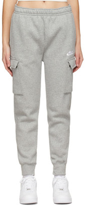 Nike Grey Fleece Sportswear Club Cargo Lounge Pants