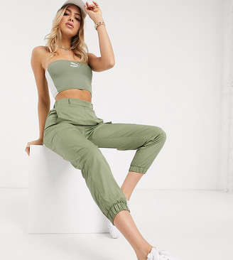Puma Bandeau in khaki exclusive to ASOS