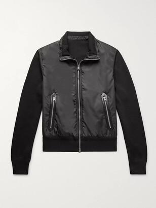 Tom Ford Slim-Fit Merino Wool And Padded Nylon Jacket