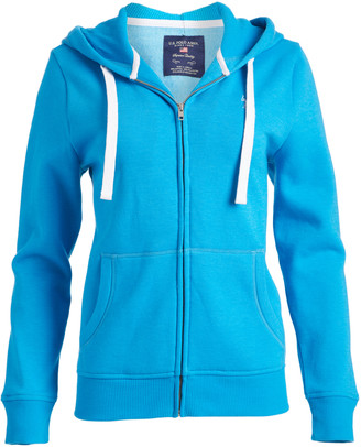 U.S. Polo Assn. Women's Sweatshirts and Hoodies Flip - Flip-Flop Blue Zip-Up Hoodie - Women