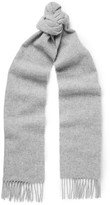 Norse Projects + Johnstons Fringed Wool Scarf - Gray