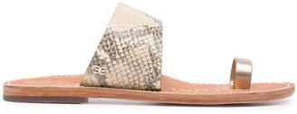 Sam Edelman Snakeskin-Print Sandals