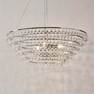 The White Company Extra Large Glass Orb Chandlier Ceiling Light, Clear, One Size