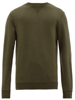 Sunspel - Crew Neck Cotton Sweatshirt - Mens - Green