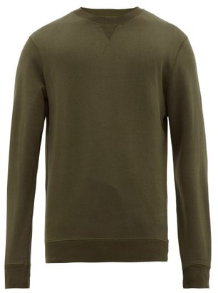 Sunspel Crew-neck Cotton Sweatshirt - Mens - Green