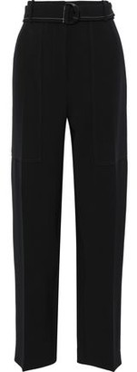 Joseph Terry Belted Crepe Wide-leg Pants