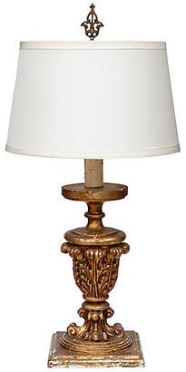 One Kings Lane Vintage 1940s French Table Lamp - Fleur de Lex Antiques