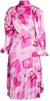 Balenciaga Twisted Pleats Midi Dress