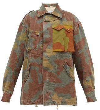 Myar - Camouflage Logo-print Cotton Jacket - Womens - Camouflage