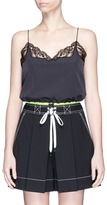 Alexander Wang Drawcord hem lace trim cropped windbreaker camisole
