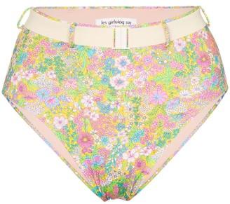 Les Girls Les Boys Liberty floral-print bikini bottoms