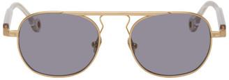 Études Gold Round Candidate Sunglasses