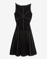 Herve Leger Studded Flare Dress