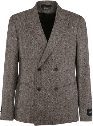 Ermenegildo Zegna Logo Patch Double-breasted Blazer
